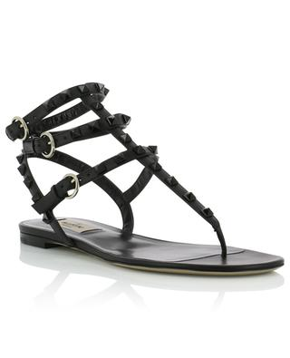 Leather flip-flops with ankle straps VALENTINO