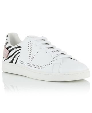Backnet zebra print low-top leather sneakers VALENTINO