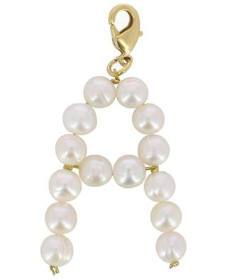 Alpha A golden pendant with freshwater pearls TIMELESS PEARLY