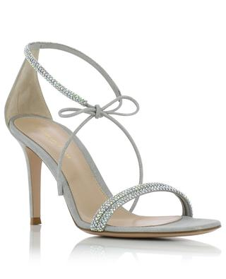 Pascale 80 crystal adorned iridescent suede sandals GIANVITO ROSSI