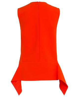 Sleeveless ruffle detail crepe top VICTORIA BY VICTORIA BECKHAM