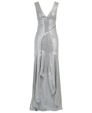 Relevé silver evening gown GALVAN LONDON