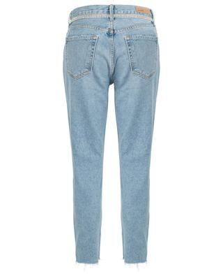 Karolina Kick It high-rise slim fit jeans with crystals GRLFRND