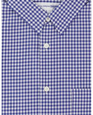 Short-sleeved gingham check shirt COMME DES GARCONS SHIRT