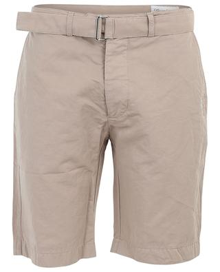 Julian belted cotton and linen Bermuda shorts OFFICINE GENERALE