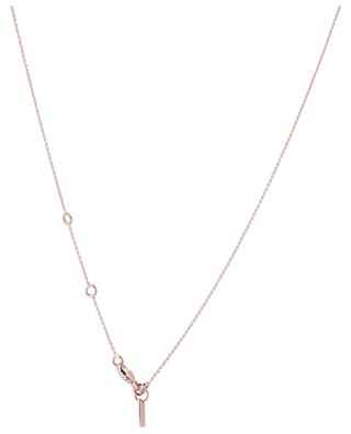 Taille Ronde pink gold plated zircon necklace AVINAS