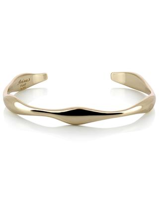 Irregular yellow gold plated bangle AVINAS