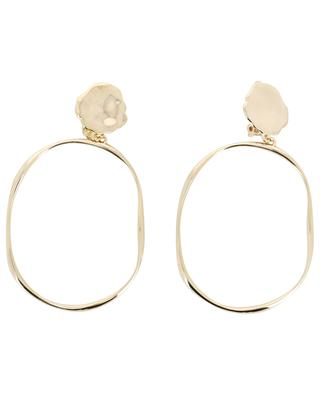 Irregular yellow gold plated ear clips AVINAS