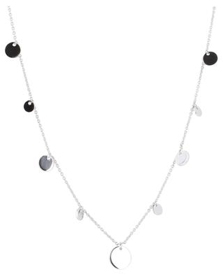 Confetti rhodium plated silver necklace AVINAS