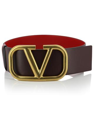 VLOGO large dark red and light red reversible belt VALENTINO