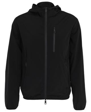 Hooded technical fabric jacket PAOLO PECORA