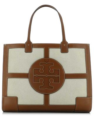 Ella large canvas and leather tote bag TORY BURCH