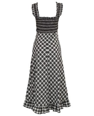 Checkered cotton blend dress GANNI