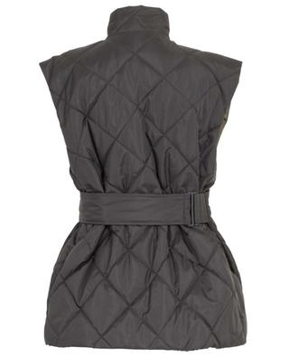 Quilted wrap vest in recycled material GANNI