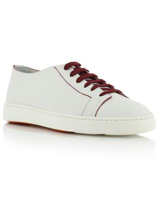 Grained leather lace-up sneakers SANTONI