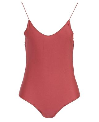 Travaillé satin and lace one-piece swimsuit OSEREE