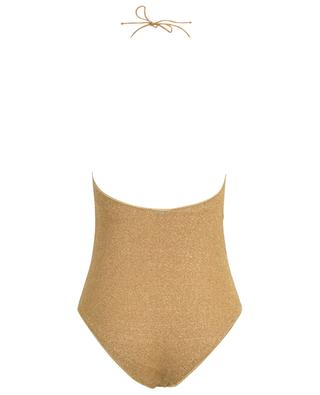Lumière Lurex holder neck one-piece swimsuit OSEREE