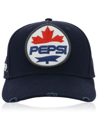#D2XPEPSI distressed cotton baseball cap with logo DSQUARED2