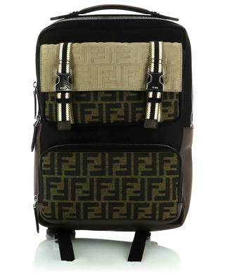 FF logo nylon and suede backpack FENDI
