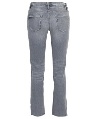 Graue Used-Look-Slim-Fit-Jeans mit Kristallen Tess CAMBIO
