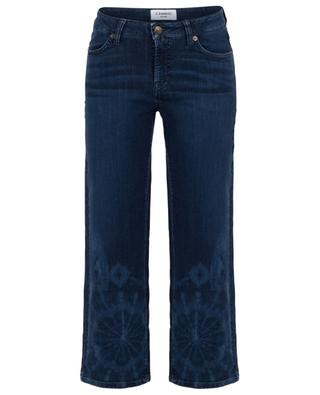 Phillipa tie-and-dye cropped wide-leg jeans CAMBIO