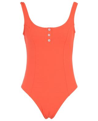 Splendide monochrome ribbed swimsuit with buttons KIWI