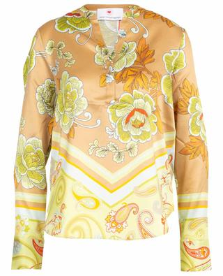 Floral and Paisley print silk blend blouse HERZEN'S ANGELEHEIT