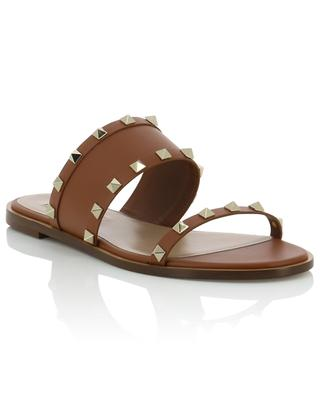 Rockstud leather flat slides VALENTINO