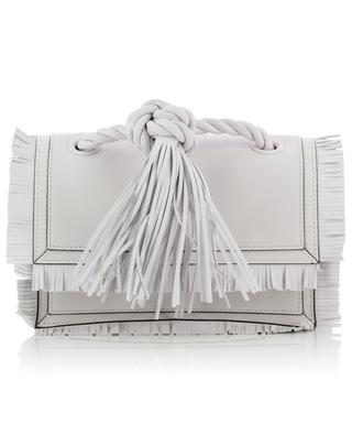 The Rope Small fringe adorned leather clutch VALENTINO