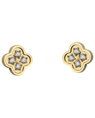 Floral ear studs with crystals IKITA
