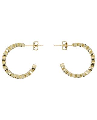 Golden hoop earrings with multicolour crystals 2 cm MOON C° PARIS