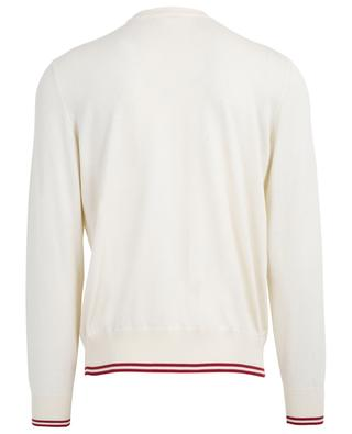 Bally Stripe thin logo detail cotton jumper BALLY
