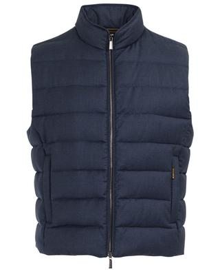 Sleeveless virgin wool and cashmere jacket MOORER