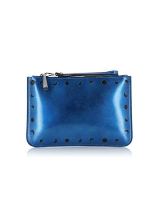 Smooth leather flat pouch GIANNI CHIARINI
