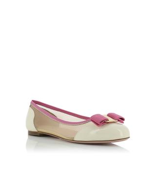Varina Net patent leather and mesh ballet flats SALVATORE FERRAGAMO