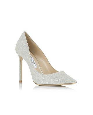 Pumps aus Leder mit Pailletten Romy JIMMY CHOO