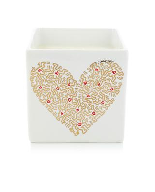 Gold Pattern Heart perfumed candle LIGNE BLANCHE