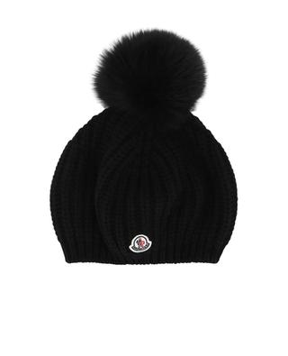 Wool blend beanie with fur MONCLER