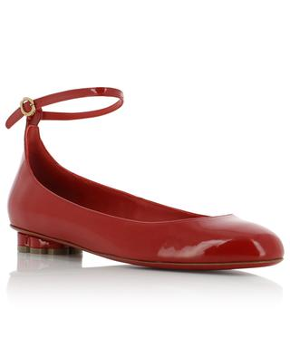 Flower Heel patent leather ballet flats SALVATORE FERRAGAMO