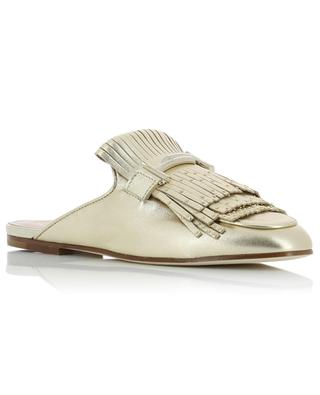 Golden leather mules TOD'S