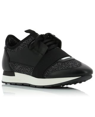 Race Runners lurex and leather sneakers BALENCIAGA