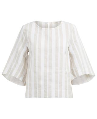 Striped linen and cotton top JACOB COHEN