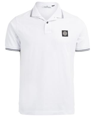 Cotton blend slim fit polo shirt STONE ISLAND