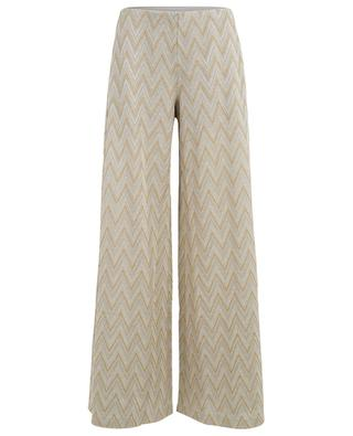 Cotton and viscose blend wide-leg trousers MISSONI