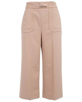 Wide-leg cropped trousers with buckle detail RED VALENTINO