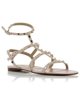 Rockstud flat leather sandals VALENTINO