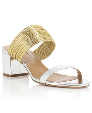 Rendez Vous metallic leather sandals AQUAZZURA