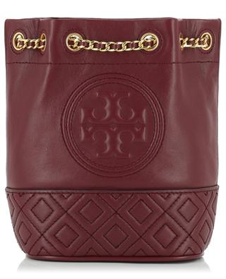 Flemming mini leather bucket bag TORY BURCH