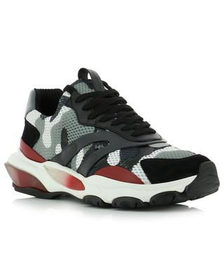 Camouflage Bounce Trainer canvas and suede sneakers VALENTINO