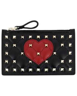 Porte-cartes en cuir Rockstud Spike.It VALENTINO
